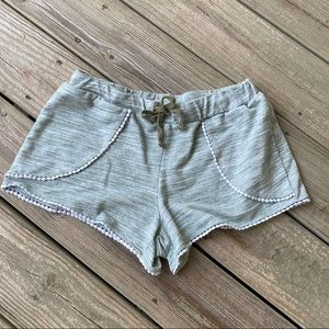 Just Be green shorts cute white trim size small